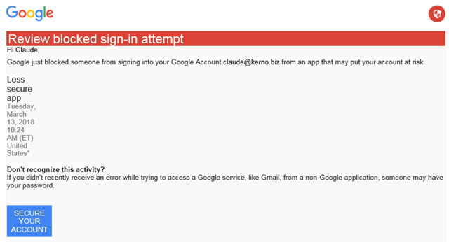 google sign in attempt was blocked