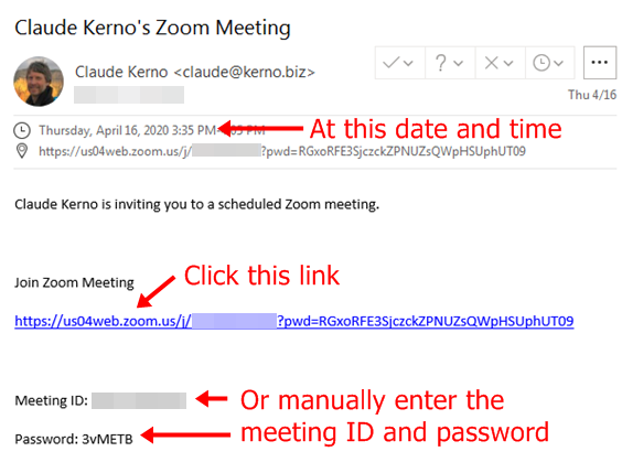 Zoom Meeting Email