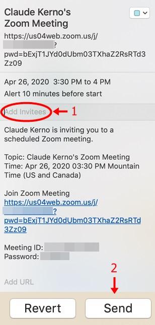 iCal Create Meeting